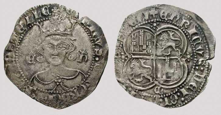 Real de Enrique II (Fuente: http://endrina.wordpress.com/category/monedas/)