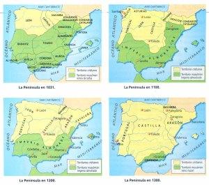 Evolución de los reinos peninsulares